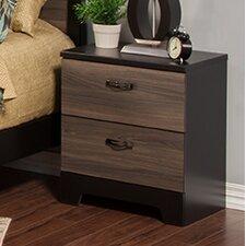 Nova 2 Drawer Nightstand by Sandberg Furniture