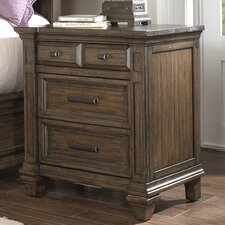 Gallatin 3 Drawer Nightstand by A-America
