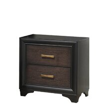 Lakeport 2 Drawer Nightstand by CorLiving