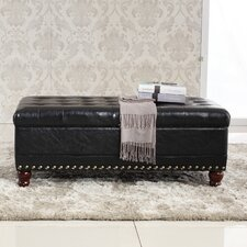 Elegant Classic Tufted Wood Storage Bedroom Bench by Bellasario Collection