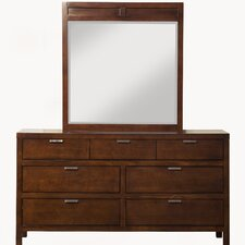 Juno 7 Drawer Dresser with Mirror by Mercury Row®