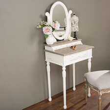 Baxton Studio Vanity with Mirror by Wholesale Interiors