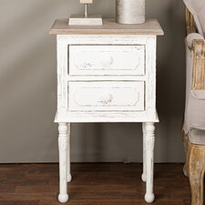 Baxton Studio 2 Drawer Nightstand by Wholesale Interiors