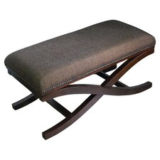 Large Upholstered Cocktail X-Leg Bench by HomePop