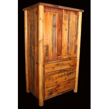 Barnwood 3 Drawer Armoire with Round Legs by Utah Mountain