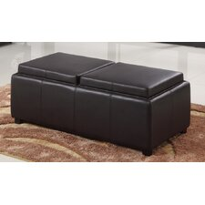Double Tray Storage Ottoman by WorldWide HomeFurnishings