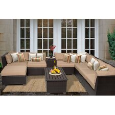Barbados 10 Piece Seating Group with Cushion by TK Classics