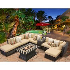 Venice 10 Piece Fire Pit Seating Group with Cushion by TK Classics