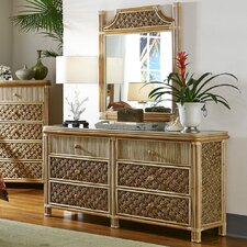 Mandalay 6 Drawer Dresser with Mirror by Spice Islands Wicker