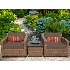 Laguna 3 Piece Deep Seating Group with Cushion by TK Classics