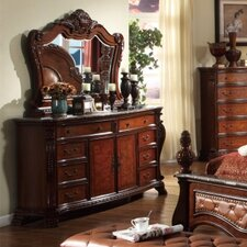 Luxor 8 Drawer Combo Dresser with Mirror by Meridian Furniture USA