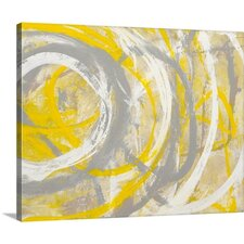 """""""Yellow Aura"""" by Erin Ashley Graphic Art on Canvas"""