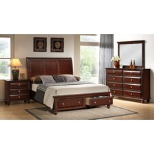 Concord Storage Panel 4 Piece Bedroom Set by Roundhill Furniture
