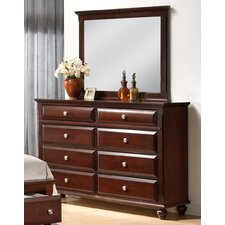 Concord 8 Drawer Dresser with Mirror by Roundhill Furniture