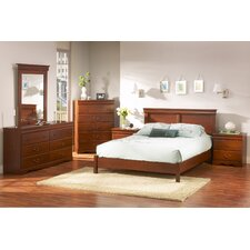 Vintage Queen Platform Customizable Bedroom Set by South Shore