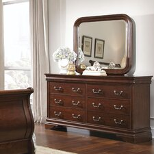 Carriage Court 8 Drawer Dresser with Mirror by Liberty Furniture
