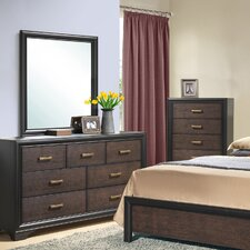 Lakeport 7 Drawer Dresser with Mirror by CorLiving
