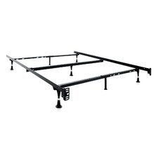 7 Leg Adjustable Metal Bed Frame with Center Support & Glide by Malouf