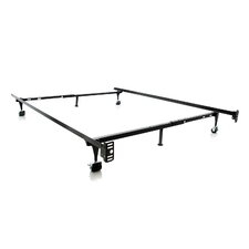 Heavy Duty 6-Leg Adjustable Metal Bed Frame with Rug Roller by Malouf