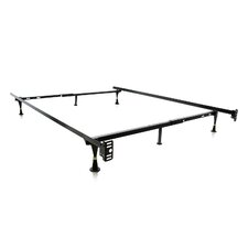 Heavy Duty 6 Leg Adjustable Metal Bed Frame with Glide by Malouf