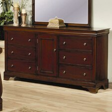 6 Drawer Dresser in Deep Mahogany Stain by Darby Home Co®