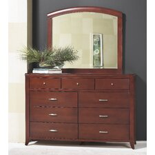 9 Drawer Dresser with Mirror by Darby Home Co®