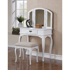 Edgar Vanity Set with Mirror by Alcott Hill®