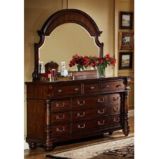 Bainbridge 12 Drawer Dresser with Mirror by Fairfax Home Collections