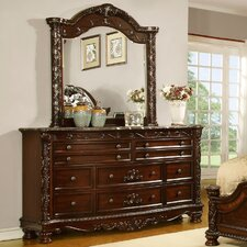 Patterson 10 Drawer Dresser with Mirror by Fairfax Home Collections