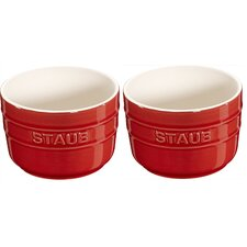 Round Ceramic 2-pc Ramekin Set (Set of 2)