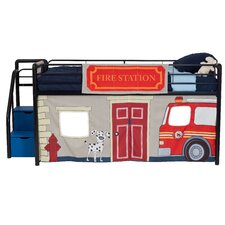 Fire Department Curtain Set for Junior Loft Bed by DHP