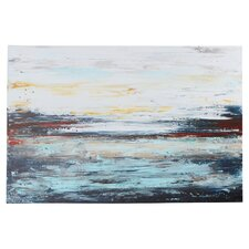 'Abstract Cold' by Jolina Anthony Print Painting on Canvas