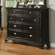 Rochester Rectangular 9 Drawer Dresser with Mirror by Alcott Hill®