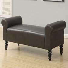 Faux Leather Bench by Monarch Specialties Inc.