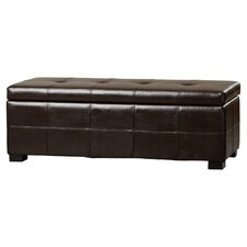 Catherine Faux Leather Storage Entryway Ottoman by Alcott Hill®