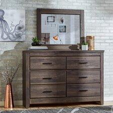 Hayward 6 Drawer Dresser with Mirror by Mercury Row®