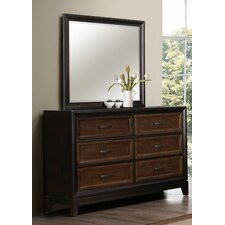 Chernocke 6 Drawer Dresser with Mirror by Simmons Casegoods by Darby Home Co®
