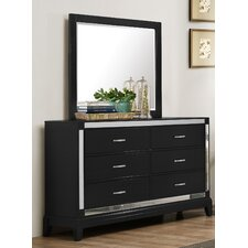 Simmons Casegoods Smethwick 6 Drawer Dresser with Mirror by House of Hampton