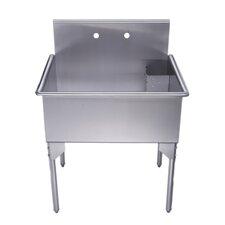 "Pearlhaus 33"" x 27"" Single Freestanding Utility Sink"