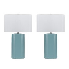 "Minorca 3 Way 27"" Table Lamp (Set of 2)"