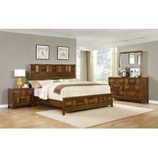 Calais Panel 4 Piece Bedroom Set by Roundhill Furniture