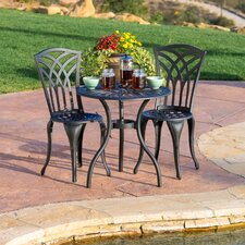 roberts 3 piece outdoor bistro set by charlton home