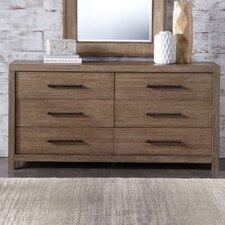 Lyons 6 Drawer Dresser by August Grove®