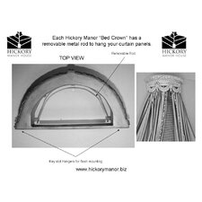 Swag Canopy Bed Crown by Hickory Manor House