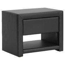 Baxton Studio Massey Nightstand in Black by Wholesale Interiors
