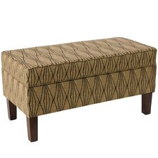 Aramingo Upholstered Storage Bedroom Bench in Hand Shapes Flax by Varick Gallery®