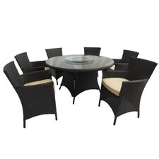 Brookfield 7 Piece Dining Set with Cushions by Breakwater Bay
