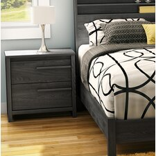 Tao 2 Drawer Nightstand by South Shore