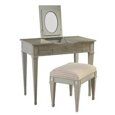 Parc Saint-Germain Vanity Set with Mirror and Stool by French Heritage