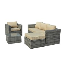 Azaleh 4 Piece Sectional Seating Group with Cushion